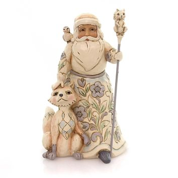 Jim Shore GRACIOUS GIVING TO ALL FIGURINE Woodland Santa Fox Owl 4053692