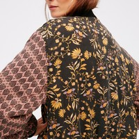 Free People Daytrip Printed Bomber Jacket