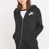 Nike Rally Full Zip Black Hoodie - Urban Outfitters