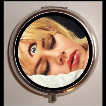 Third Eye Pill box Weird Pinup Pyschobilly Woman Pillbox Case Holder Sweetheartsinner New
