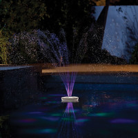 Floating Lighted Pool Fountain