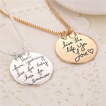 Jewelry Shiny Stylish Gift New Arrival Couple Hot Sale Accessory Alphabet Necklace [11652433935]