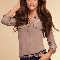 Silk Button-down Shirt