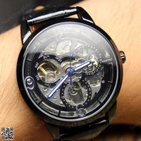 Mens Mechanical wristwatches Steampunk Watch mickey shape Hollow Dial Steam punk Sport Watches