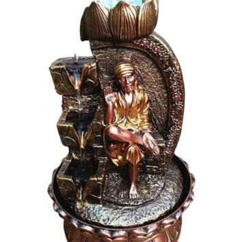 Shiny  Side Stone Sai Water Falling Statue