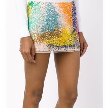 ASHISH   Sequin-Embellished Mini Skirt   brownsfashion.com   The Finest Edit of Luxury Fashion   Clothes, Shoes, Bags and Accessories for Men & Women