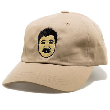 El Chapo Khaki dad hat by Roberto Vincenzo