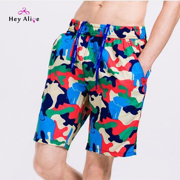 Men Beach Board Shorts Printing Beach Boards Short Quick Dry Surfing Shorts Top Sale Men Sport Swimming Shorts New