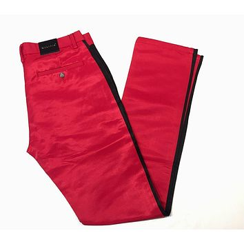 Barabas Straight Leg Red Striped Trousers