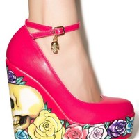 Calavera Rose Wedges by Iron Fist