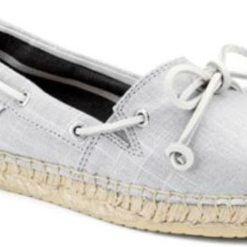 Sperry Top-Sider Katama Espadrille GrayMetallicLinen, Size 7.5M  Women's