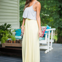 Fluttering Free Maxi Dress, Yellow