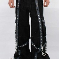 Tripp NYC Baggy Pyramid Stud Pants in Black/Grey