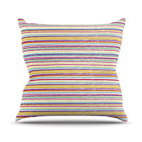 "Nika Martinez ""Summer Stripes"" Abstract Throw Pillow"
