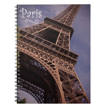 Paris Eiffel Tower Famous Landmark Photo Notebook