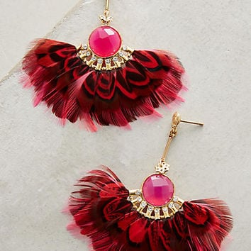 Serti Feather Earrings