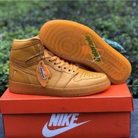 ONETOW Nike Air Jordan 1 Retro OG High Gatorade Orange Sneakers Men Basketball Shoes