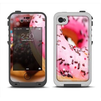 The Sprinkled Donuts Apple iPhone 4-4s LifeProof Fre Case Skin Set