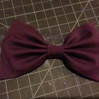 Large Deep Purple Plum  Hair Bow Hair Clip / Clip On Bow Tie - FREE SHIPPING