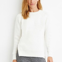 Contemporary Brushed Knit Raglan Sweater