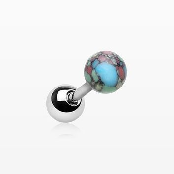 Synthetic Stone Ball Top Cartilage Tragus Barbell