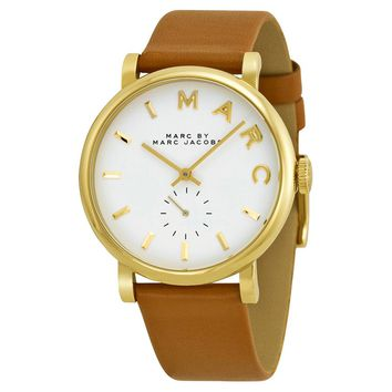 Marc Jacobs Womens MBM1316 Baker Brown Leather Watch