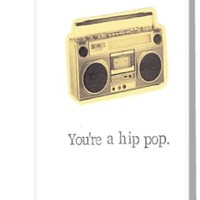 'You're A Hip Pop Father's Day Card' Greeting Card by bluespecsstudio