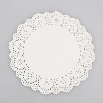 36pcs/set 6.5/8.5/10.5 Inch Round Lace Paper Doilies Craft Cup Cake Wedding Party Decoration
