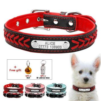 Personalized Engraved Braided Dog Collar