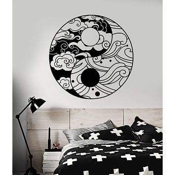 Vinyl Wall Decal Ornament Moon Sun Day Night Bedroom Decor Stickers (2303ig)