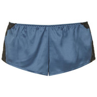 Satin and Lace Knicker Shorts - Teal