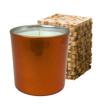 Copper Teak and Leather Scented Soy Jar Candles