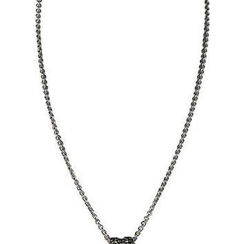 Judith Jack Crystal Pave and Marcasite Heart Necklace