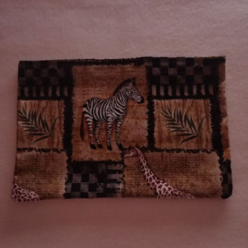 Sinus Heating Pad, Cold Pack, Rice Heating Pad, Natural Heating Pad, African Animals, African Plains, Zebra, Giraffe, Ferns, Tribal