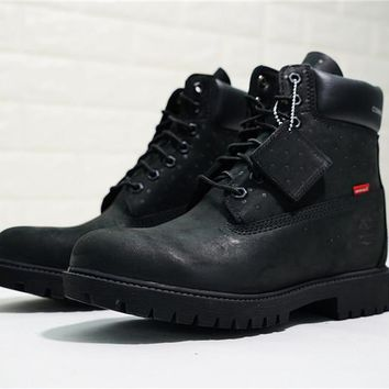 Supreme x CDG x Timberland Premium 6 Inch Leather Boots TB0A14LP