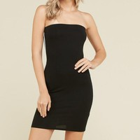 Side Stripe Tube Dress in Black