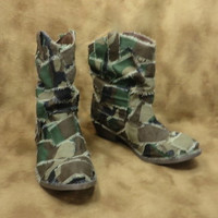 Camo Boots - Camouflage Shoes - Cowboy Boots - Combat Boots - Womens Boots