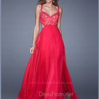 Sweetheart Waist Cut Outs La Femme Formal Prom Gown 20710