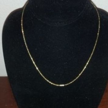 """NEW 14K GOLD 18"""" Chain Necklace VicenzaGold Polished Oval Forzatina YELLOW GOLD"""