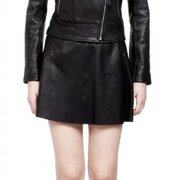 Mackage - LISA BLACK BIKER LEATHER JACKET