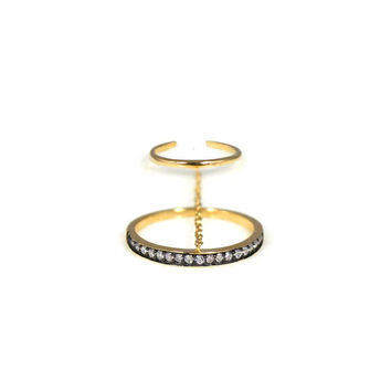 Mixed Metal Chain Ring