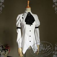 Capped Pawn Gothic Punk Dandy Ouji Bat Blouse&Jabot*2 Colors Instant Shipping