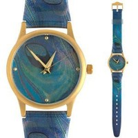 Watch for Women Tiffany Inspired Peacock Design
