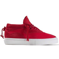 Clear Weather - The Everest - Red Canvas / Suede