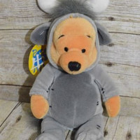 Disney Store Winnie the Pooh Plush Beanie Ox Chinese Zodiac stuffed animal NWT