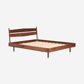 Rosa Platform Walnut Bed Frame