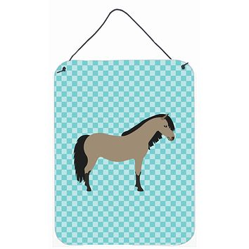 Welsh Pony Horse Blue Check Wall or Door Hanging Prints BB8084DS1216
