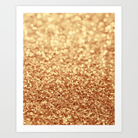 gold Art Print by Ingrid Beddoes