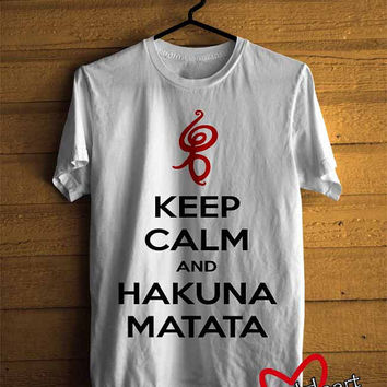 Men T-shirt : Keep Calm Hakuna Matata