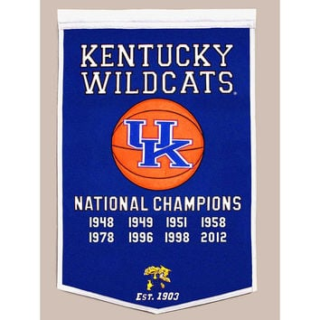 Kentucky Wildcats NCAA Dynasty Banner (24x36)